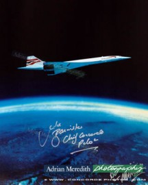 Concorde Over Earth Curvature 1988 - Signed 16x12